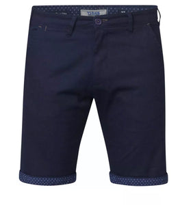 D555 Duke Stretch Chino Short - Luke Navy - jjdonnelly