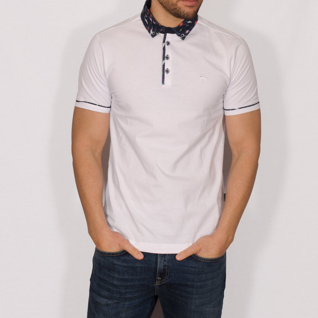 Bewley & Ritch Polo Shirt - Edmo White - jjdonnelly