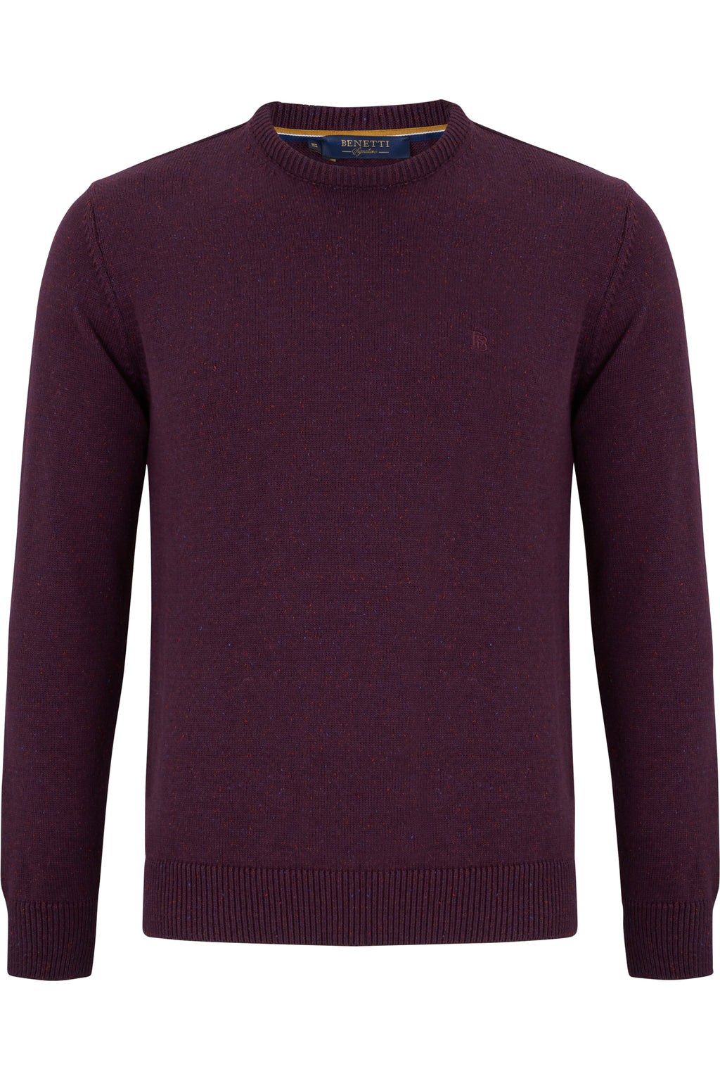 Benetti Nope Crew Neck Knitwear - Grape Knitwear - jjdonnelly
