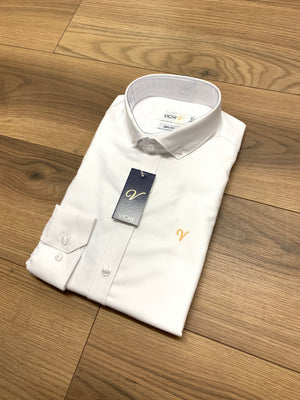 Vichi Oxford Slim Fit Shirt - White - jjdonnelly