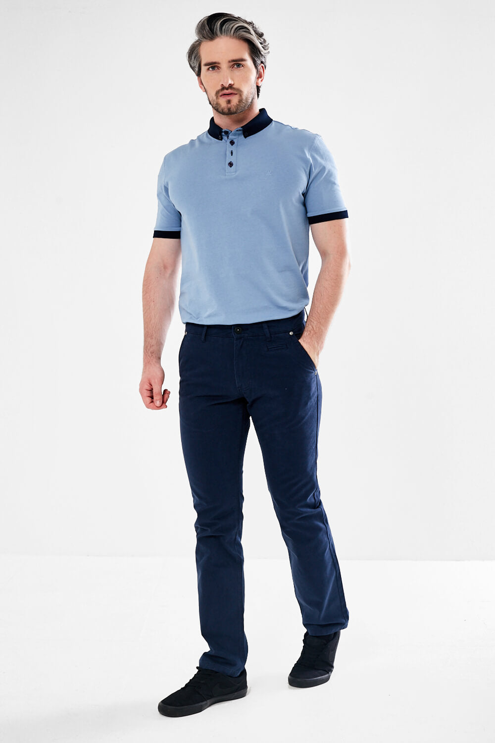 Mineral Jonnie Regular Fit Chino - Dark Blue - JJ Donnelly
