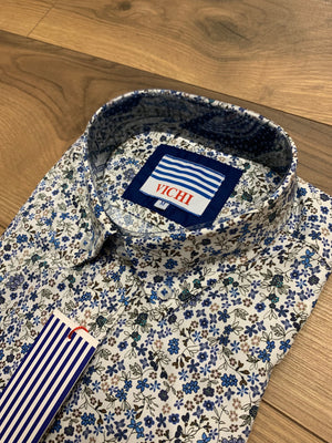 Vichi Tailored Fit Shirt - Floral Pattern - jjdonnelly