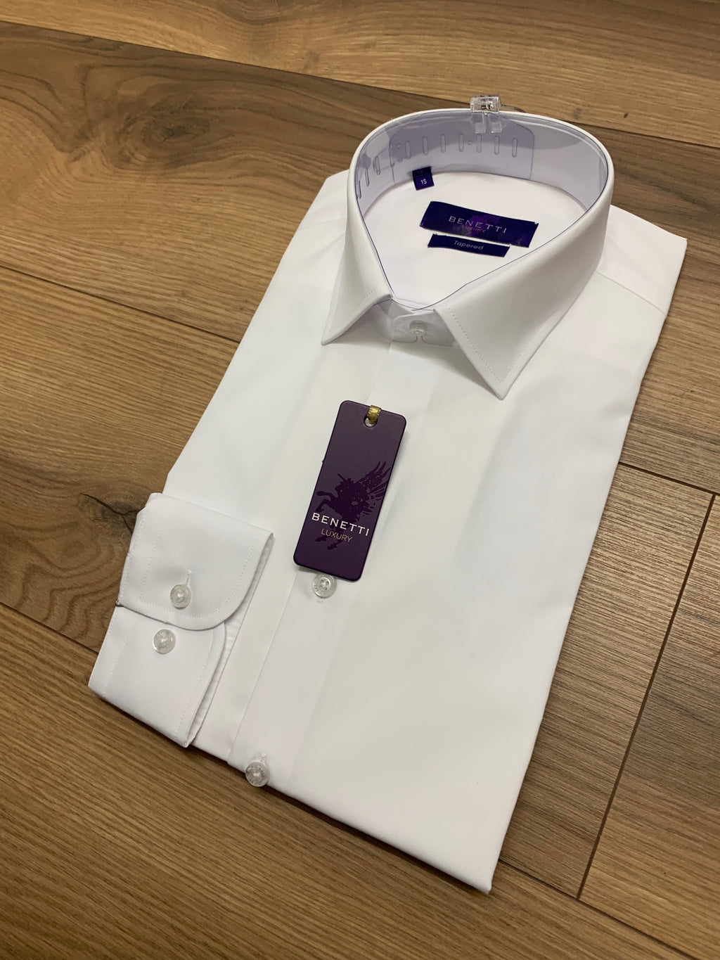 Benetti White Formal Shirt - Tapered Fit