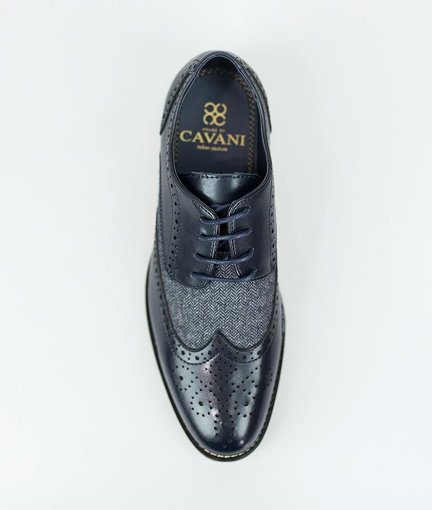 Cavani Horatio Brogue - Navy - jjdonnelly