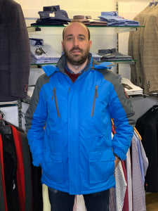 Carabou Waterproof Pendle Jacket - Blue - jjdonnelly