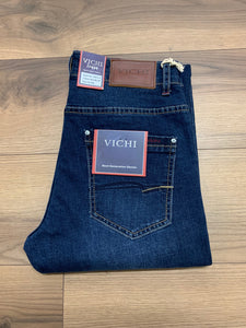 Vichi Straight Leg Jean - Mid Blue - jjdonnelly