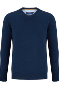 Benetti V-Neck Knitwear - Ink - jjdonnelly