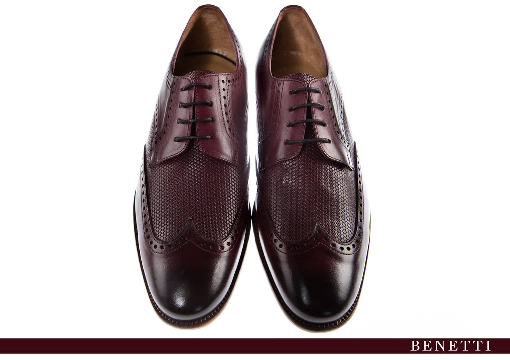 Benetti Louis Shoe - Burgundy - jjdonnelly