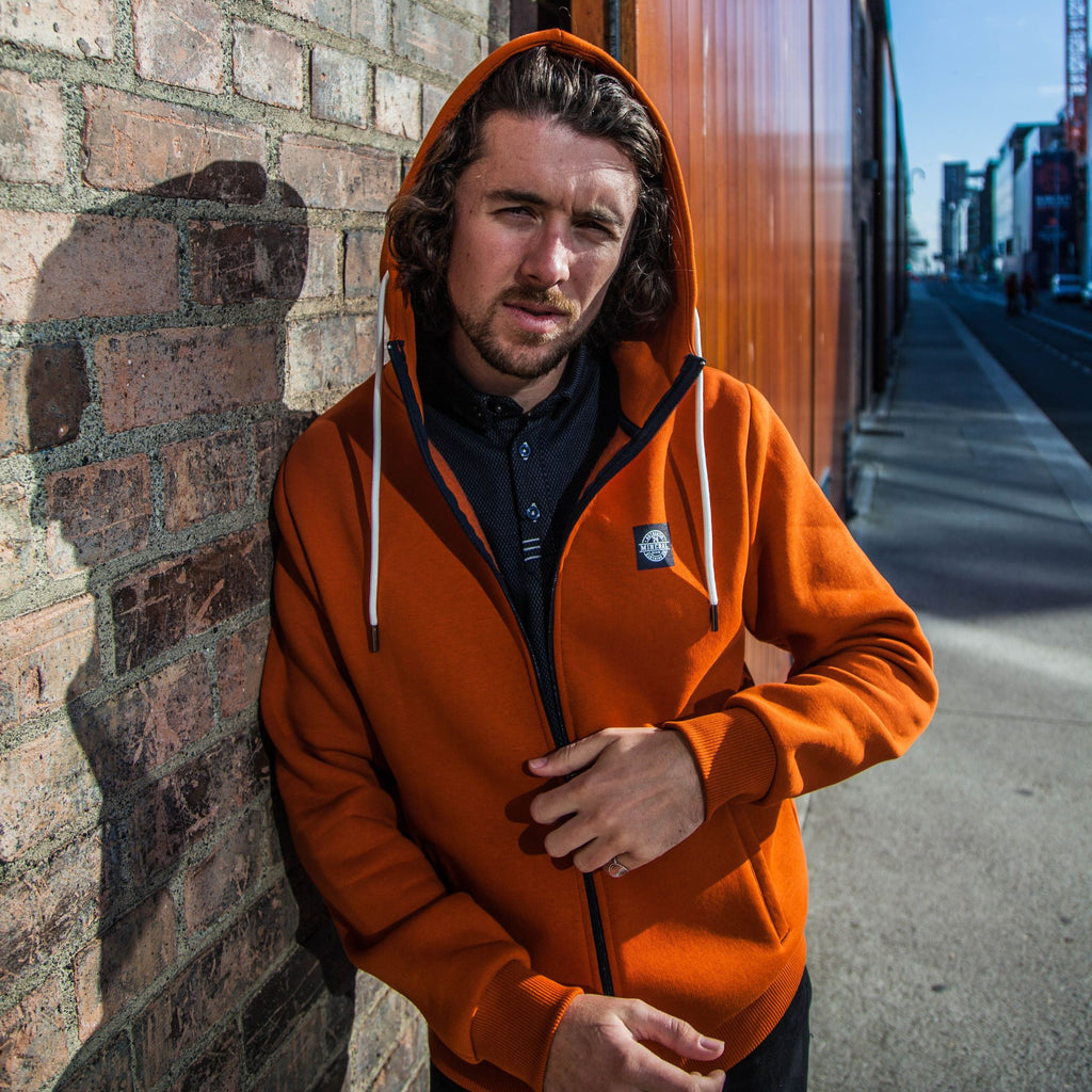 Mineral Chatham Full Zip Hoodie - Burnt Orange - jjdonnelly
