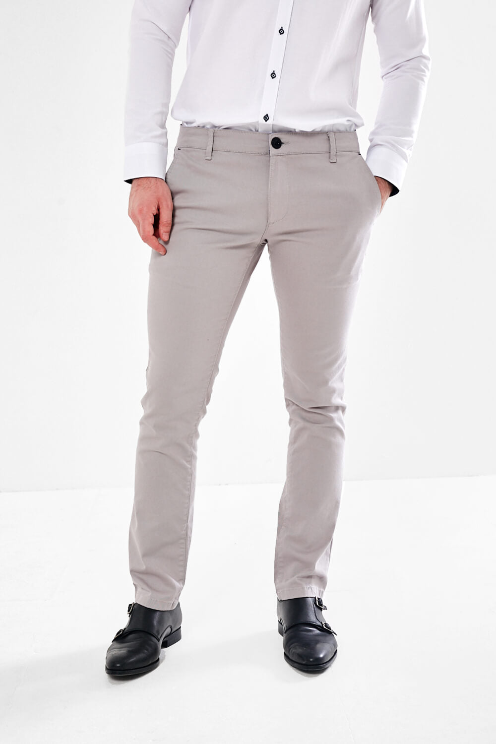 Scott & Wade Tailored Chino - Sprint Grey - jjdonnelly