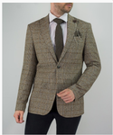 Cavani Dominic Tan Tweed Blazer JJ Donnelly Menswear Ballynahinch