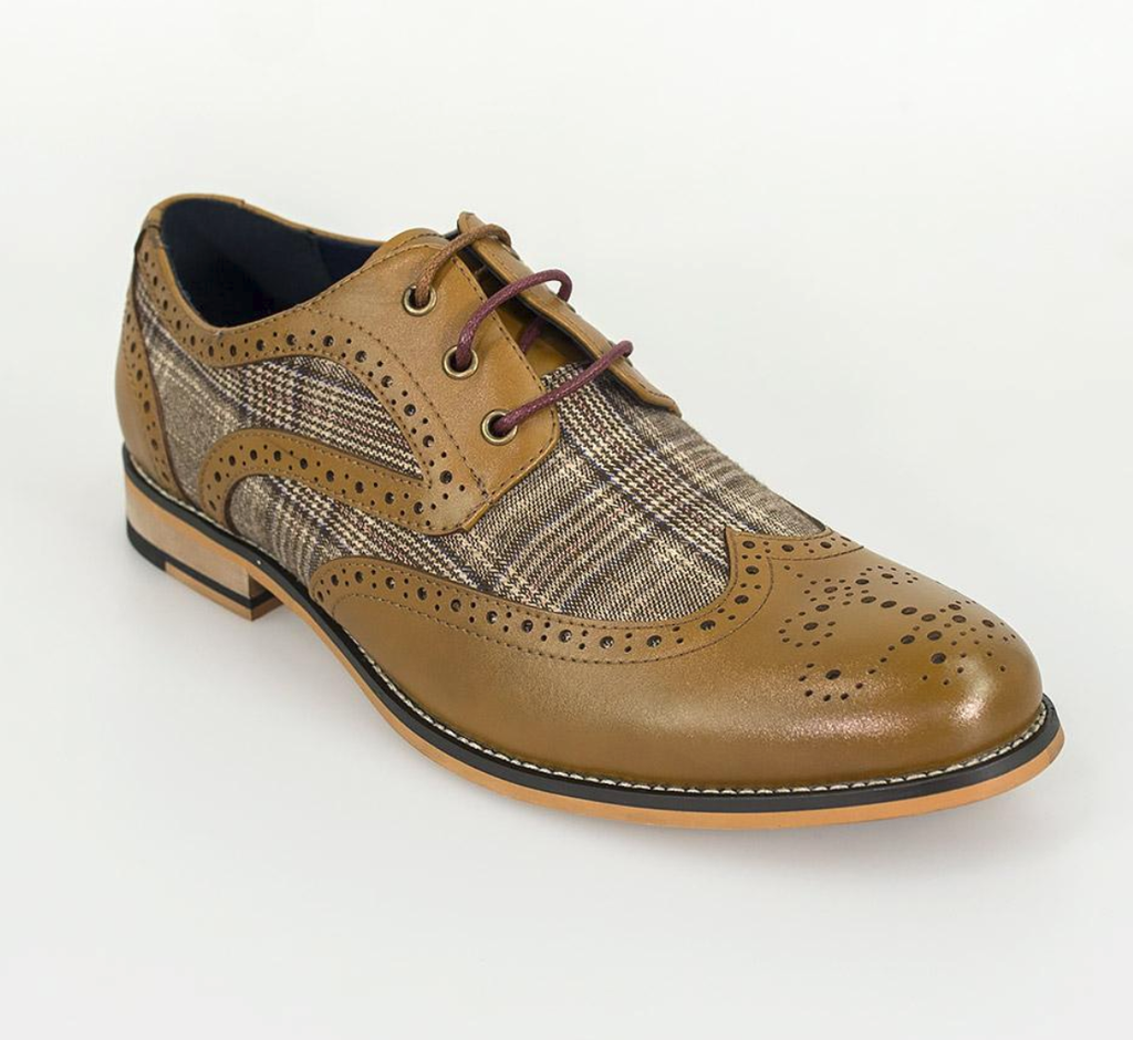 Cavani Oslo Brogue - Tan - jjdonnelly