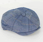 Baker Style Flat Cap - Connall Blue - jjdonnelly