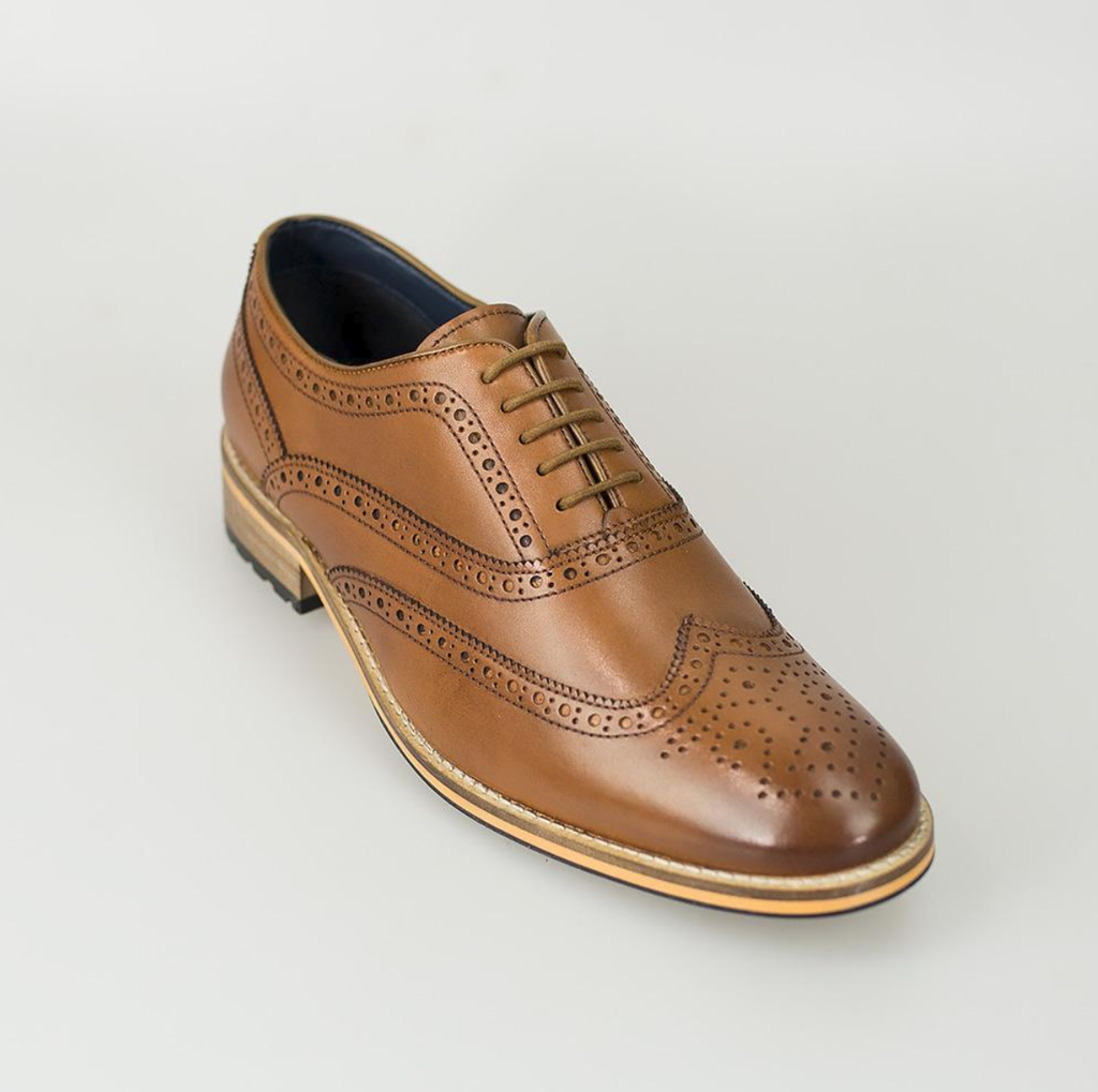 Cavani Lake Brogue - Tan - jjdonnelly