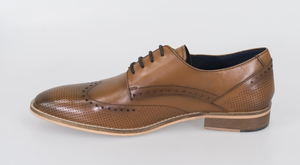 Cavani Rome Brogue - Tan - jjdonnelly