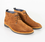 Cavani Sahara Suede Boot - Tan - jjdonnelly