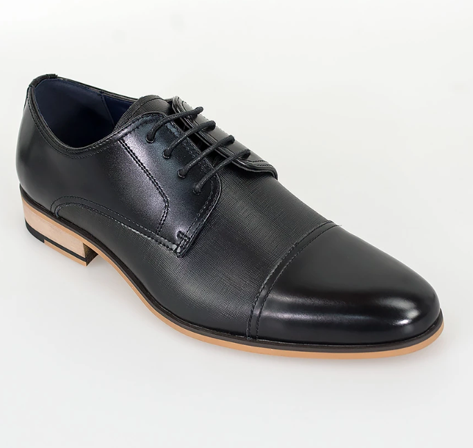 Cavani Matteo Derby Shoe - Black - jjdonnelly