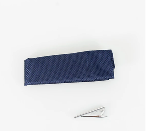 Cavani Knitted Tie Set - Navy - jjdonnelly