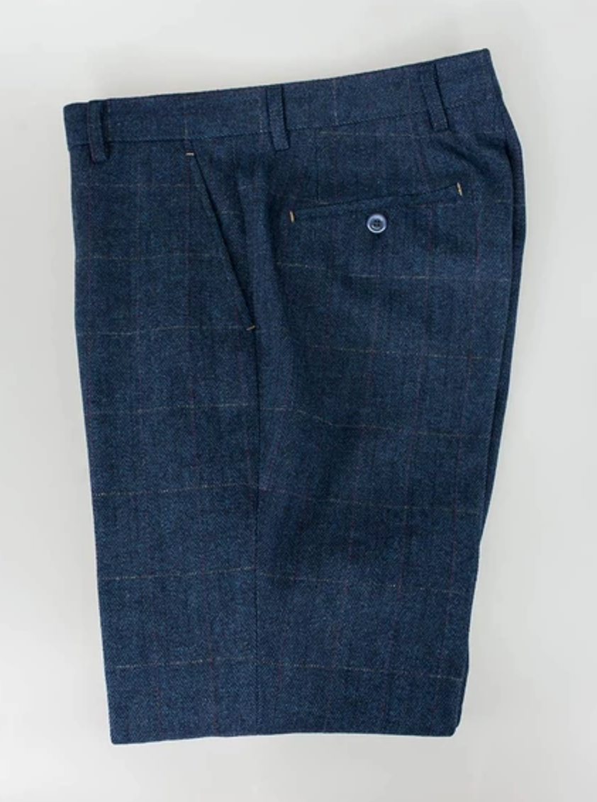 Cavani Tweed Trousers - Carnegi Blue - jjdonnelly