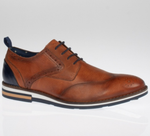 Brent Pope Darfield Casual Brogue - Cognac (Tan) - jjdonnelly