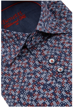 Benetti Iggy Shirt - Wine - jjdonnelly