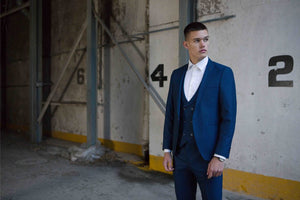 Travis Xavi 3 Piece Suit - Navy
