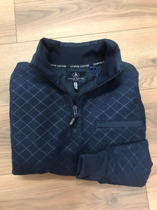 Chris Cayne  Fleece Half Zip - Navy - jjdonnelly
