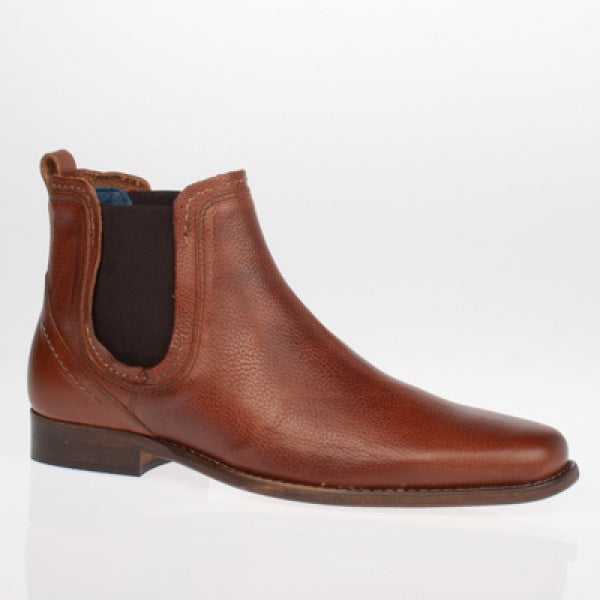 Escape Austin Chelsea Dealer Boot - Tumbled Caramel - jjdonnelly