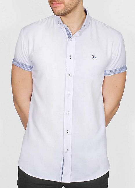 Bewley & Ritch Half Sleeve Galand Shirt - White - jjdonnelly