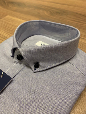 Vichi Oxford Slim Fit Shirt - Navy - jjdonnelly