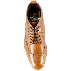 Cavani Holmes Brogue Lace Boot - Tan - JJ Donnelly