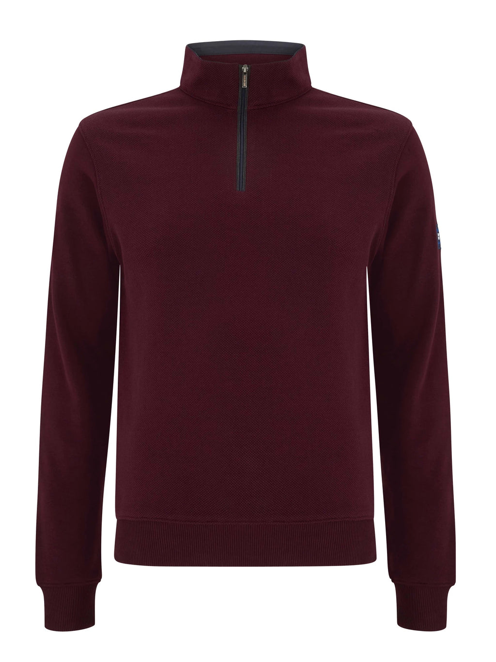 Benetti George Half Zip - Burgundy - jjdonnelly