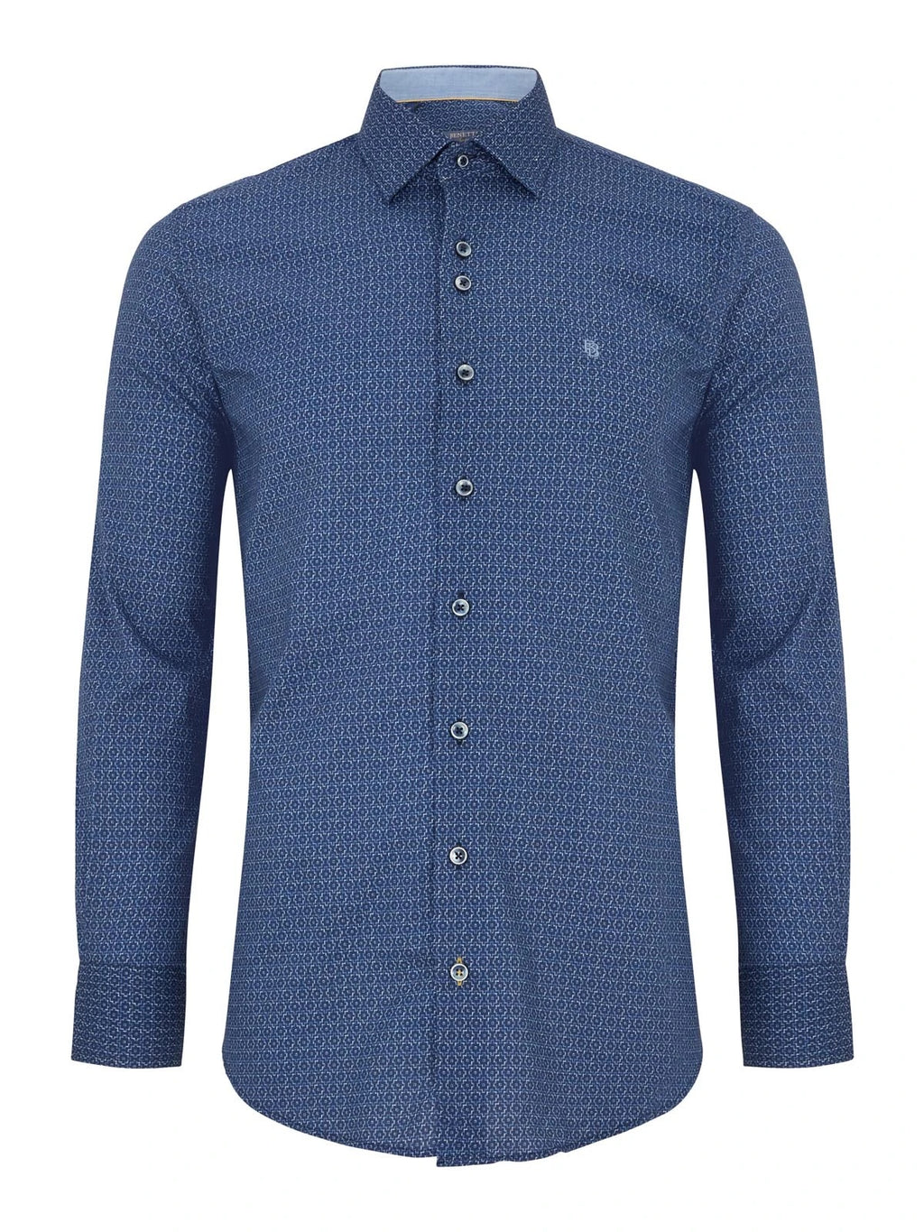 Benetti Modern Fit Niall Shirt - Navy - jjdonnelly