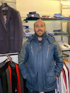 Carabou Waterproof Pendle Jacket - Navy - jjdonnelly