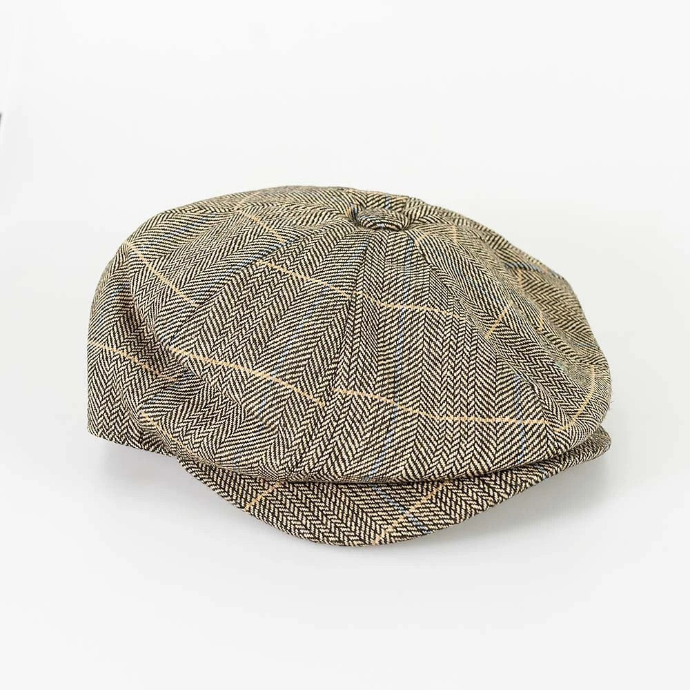Baker Style Flat Cap - Albert Brown - jjdonnelly