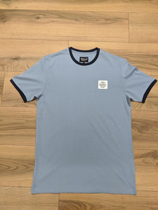 Mineral Oxley T-Shirt - Faded Denim - jjdonnelly