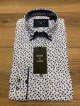 Scott & Wade Slim Fit Lavie Shirt - White/Blue - jjdonnelly