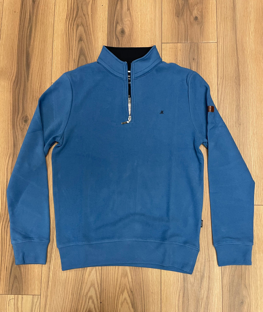 Mineral Kentucky Half Zip Sweatshirt - Blue - JJ Donnelly