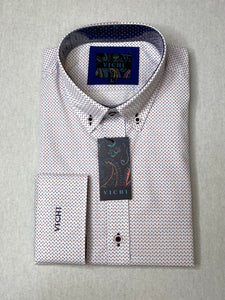 Vichi Tailored Fit Pattern Shirt - JAB 2102 Blue - JJ Donnelly