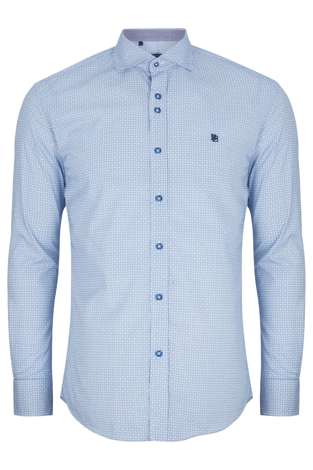 Benetti Modern Fit Alex Shirt - Sky Blue - jjdonnelly