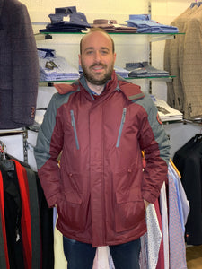 Carabou Waterproof Pendle Jacket - Wine - jjdonnelly