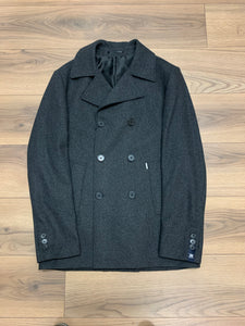 Selinac Double Breasted Wool Coat - Grey - jjdonnelly