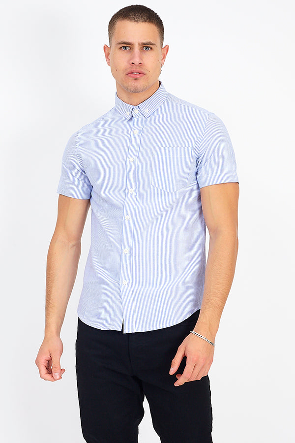 Brave Soul Fiore Pinstripe Short Sleeve Shirt - JJ Donnelly