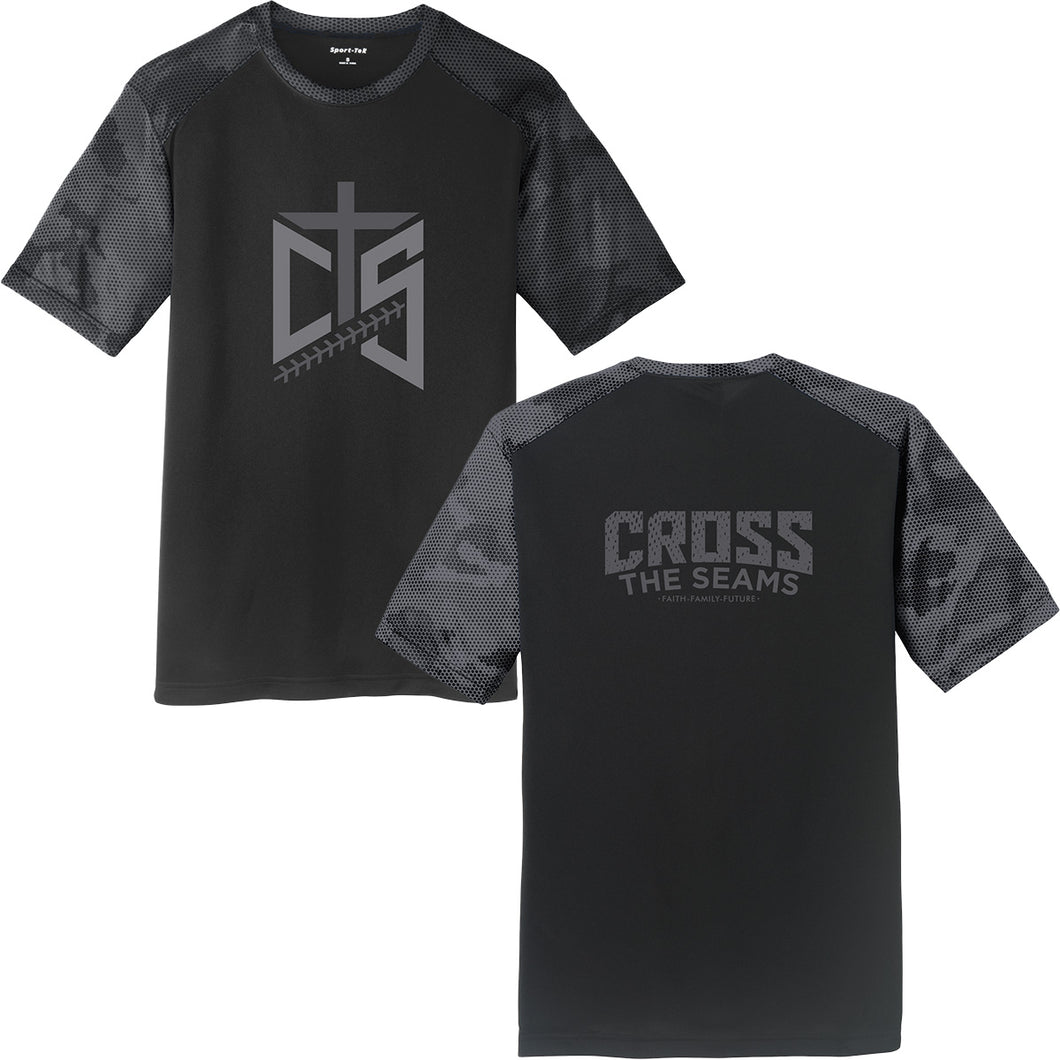 CTS - Cross the Seams - Black/Grey Camohex Performance Tee - 204814
