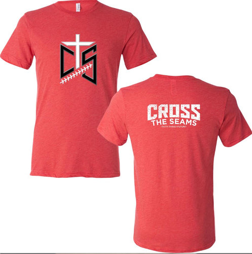 CTS - 3-D Cross the Seams on Red Triblend Tee - 206170