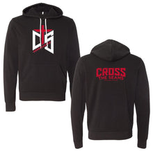 Red & White 3-D Cross the Seams on Black Hoodie - 225622/230728