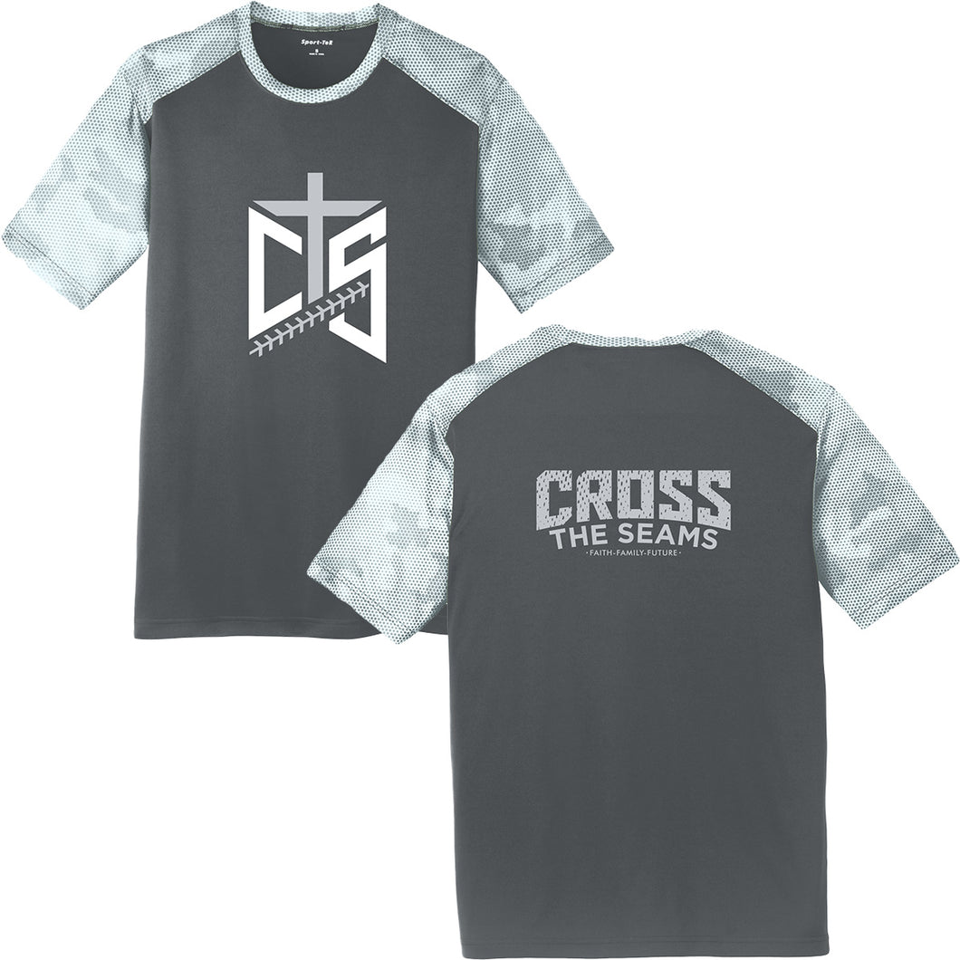 CTS - Cross the Seams - Iron Grey/White Camohex Performance Tee - 204289