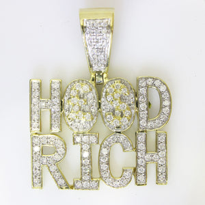 10K Yellow Gold Hood Rich Pendant