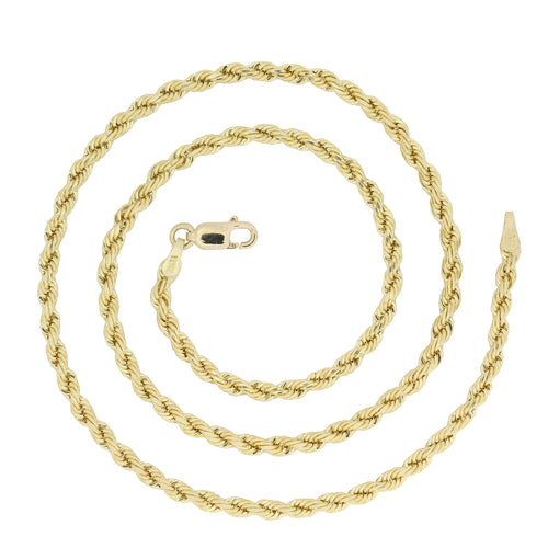 10k Yellow Gold 3mm Rope Chain