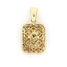Load image into Gallery viewer, 14K Yellow Gold Dog Tag Pendant 2 Ctw
